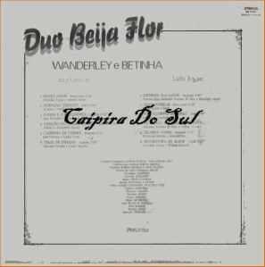 Verso-Duo Beija Flor - 1983