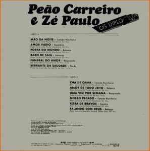 Verso-Peão Carreiro e Zé Paulo - 1986