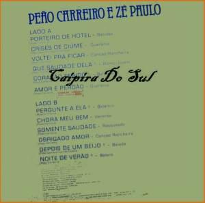 Verso-Peão Carreiro e Zé Paulo - 1988