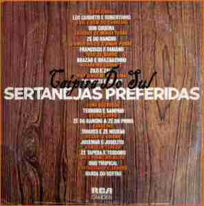 Verso-Sertanejas Preferidas - 1982