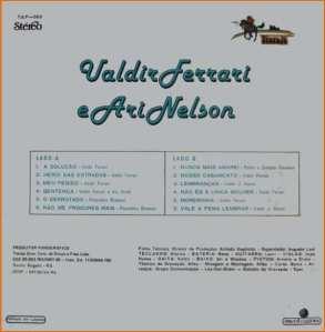 Verso-Valdir Ferrari e Ari Nelson - 1981