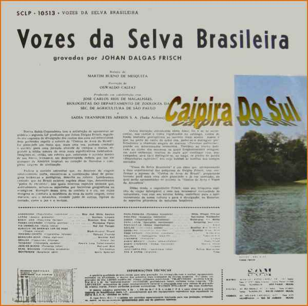 Johan Dalgas Frisch Sinfonia Das Aves Brasileiras
